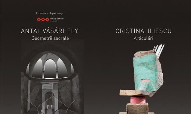 """""""Geometrii sacrale"""" – Antal Vásárhelyi și """"Articulari"""" – Cristina Iliescu @ Art Yourself Gallery, București"""