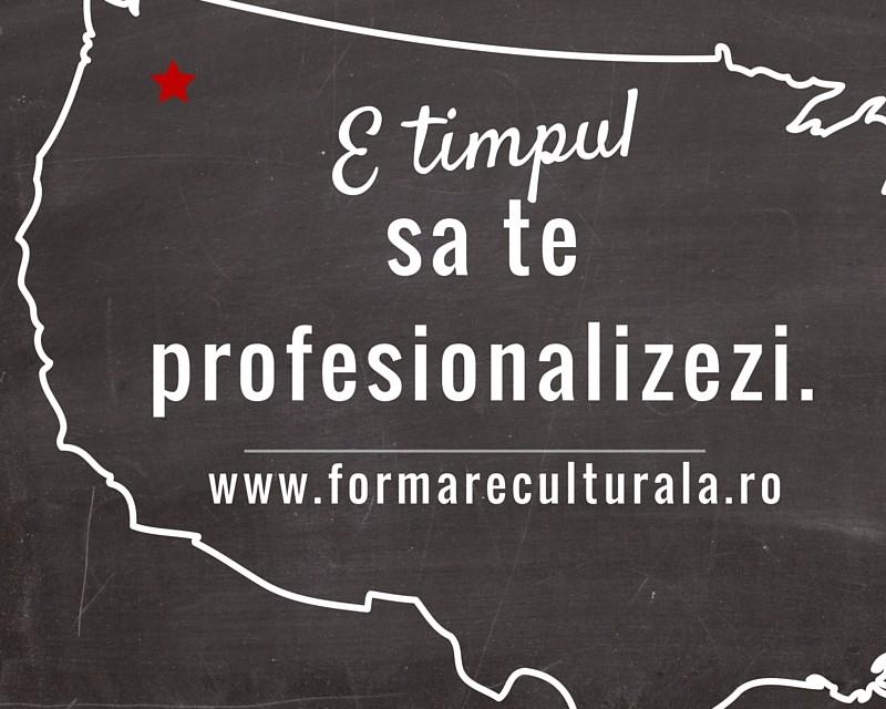 Faci proiecte culturale? E timpul să te profesionalizezi @ program Formare Culturala