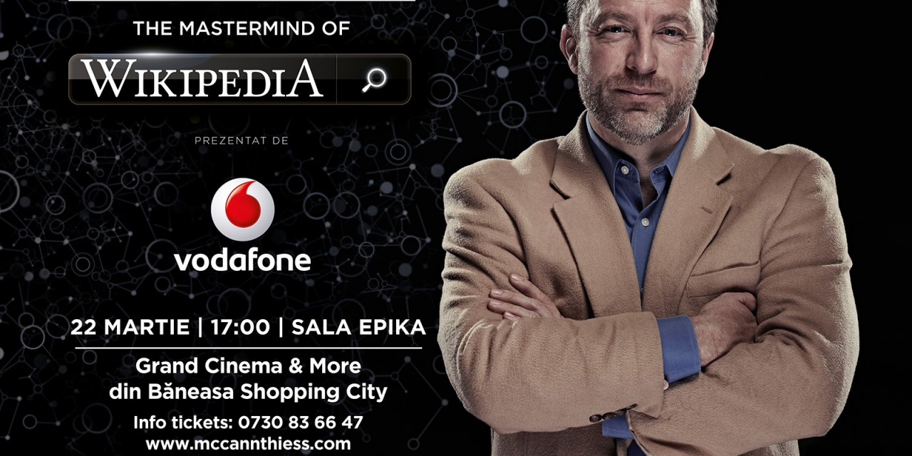 Jimmy Wales, geniul din spatele Wikipedia, vine în premieră în România