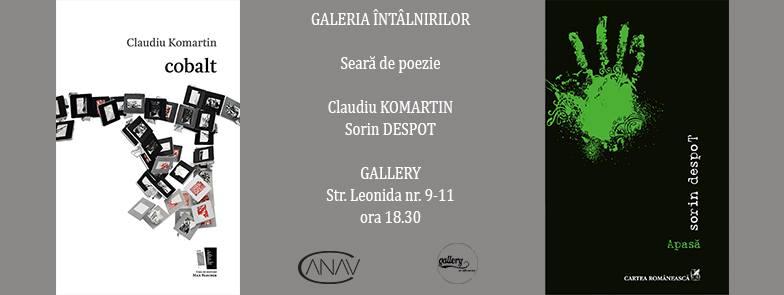 Galeriei Întâlnirilor: Sorin Despot și Claudiu Komartin @ GALLERY