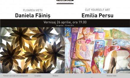 """Daniela Făiniș, """"Floarea vietii"""", Emilia Persu """"CUT YOURSELF ART"""" @ Art Yourself Gallery, București"""