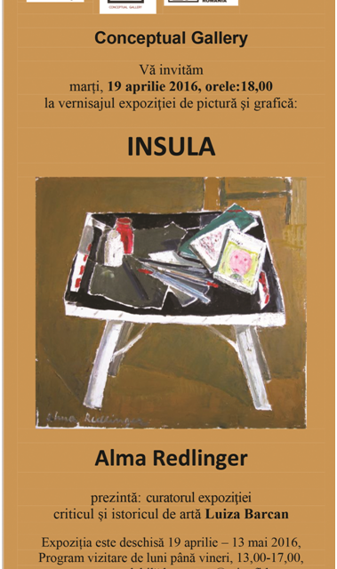 "Alma Redliger ""Insula"" la Conceptual Gallery, București"