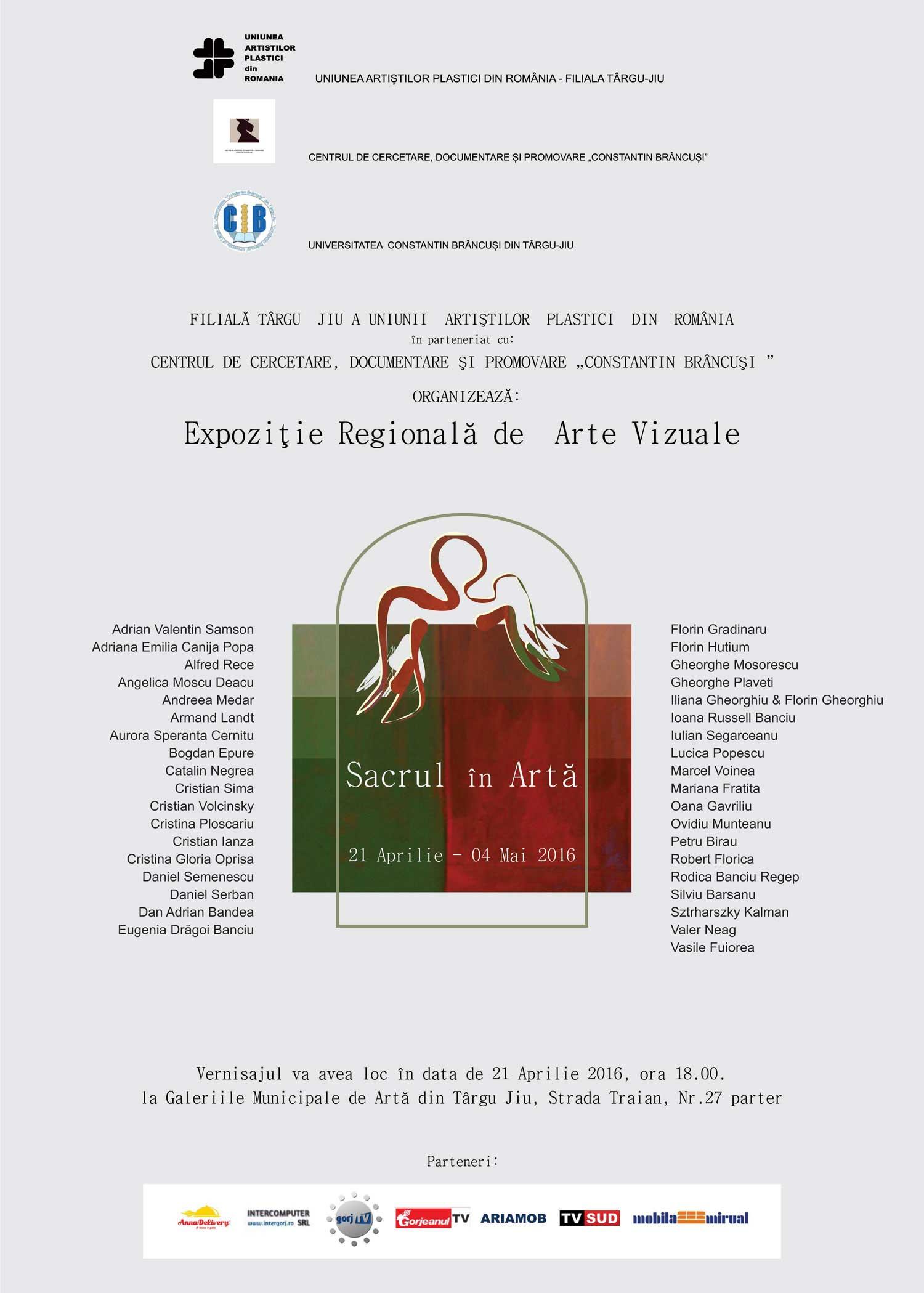 """Expoziție-Regională-de-Arte-Vizuale-""""Sacrul-în-Artă""""-@-Galeriile-Municipale-de-Artă-din-Târgu-Jiu"""