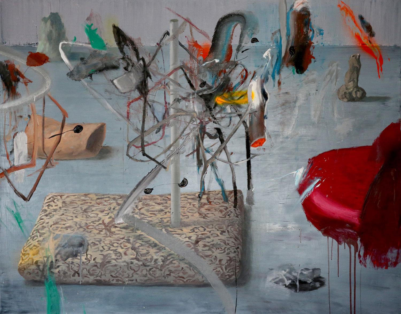 Laurian Popa, Grey Floor 110x140cm, oil on canvas, 2016
