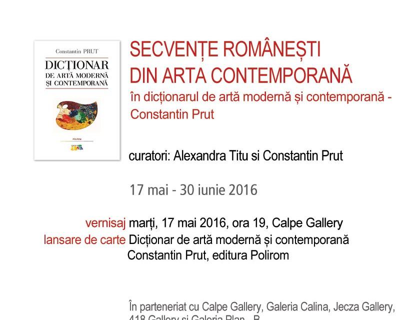 Secvenţe românești din arta contemporană în Dicţionarul de artă modernă și contemporană de Constantin Prut