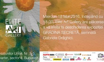 """Gabriela Drăghici """"Grădina secretă"""" @ Elite Art Gallery, București"""
