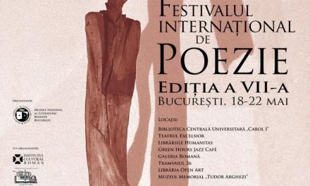 Peste 100 de poeți din 23 de țări, la cea de a VII-a ediție a Festivalului Internațional de Poezie București (FIPB)