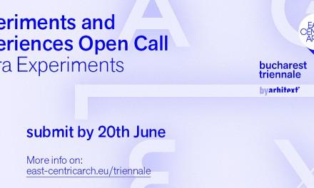 Open Call – Artiștii și arhitecții sunt invitați sa participe la Agora Experiments la Trienala de Arhitectura East Centric