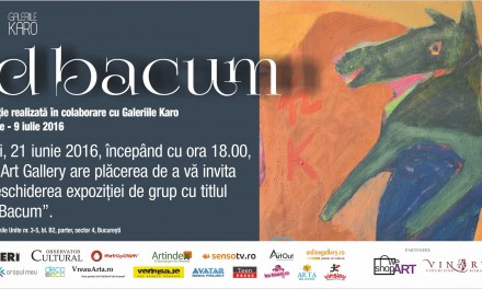 """Ad Bacum"" @ Elite Art Gallery, București"