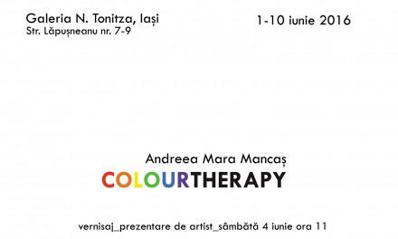 """Andreea-Mara Mancaş """"COLOURTHERAPY"""" @ Galeria N. Tonitza, Iaşi"""