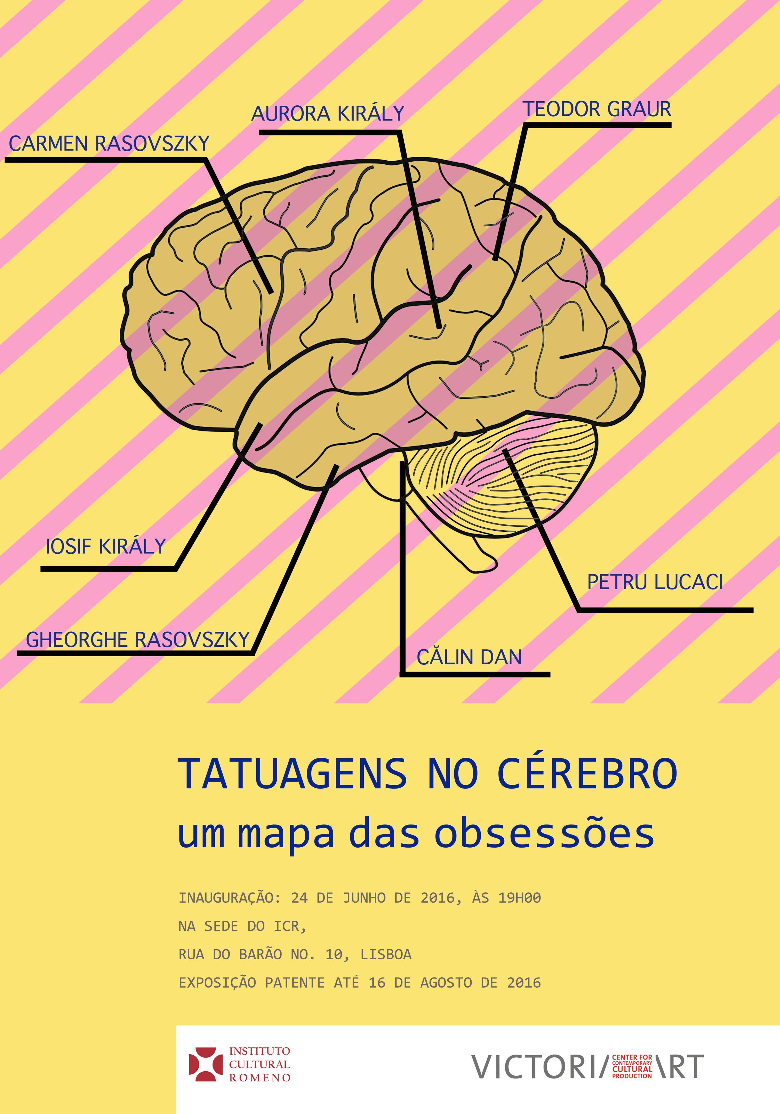 afiș expoziție Tatuaje pe creier