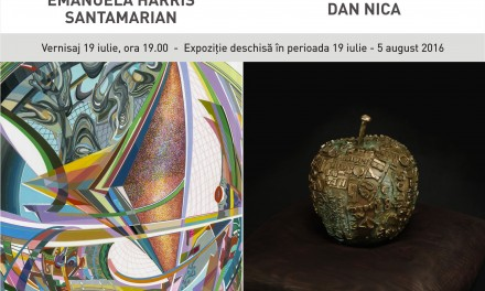 "Emanuela Harris Santamarian ""PANTA REI"",  Dan Nica ""FRAGMENTARIUM"" @ Art Yourself Gallery, București"
