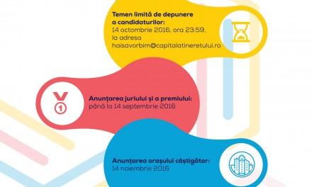 """Lansarea competiției pentru titlul """"Capitala Tineretului din România 2017"""""""