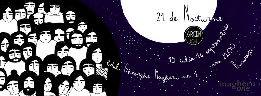 21 de Nocturne | poezie contemporană, muzică și vin – Eveniment ARCEN
