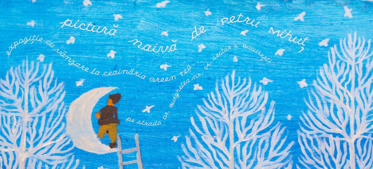 Pictură naivă de Petru Mihuţ, în expoziţie la Ceainăria Green Tea din Bucureşti