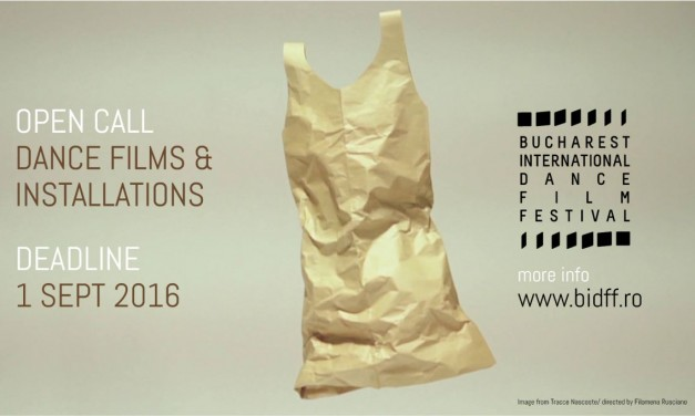 Bucharest International Dance Film Festival se pregătește de cea de-a II-a ediție