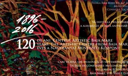"""Lansarea oficială a albumului de artă aniversar """"120 de ani. Centrul Artistic Baia Mare"""""""