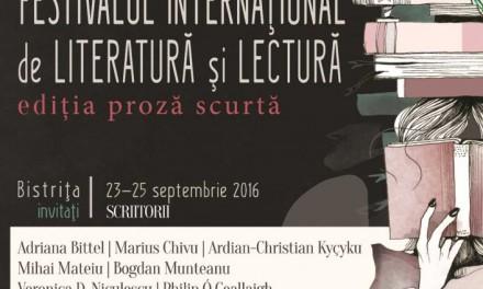 Festivalului Internațional de Literatură și Lectură (FILL). Ediția Proză Scurtă