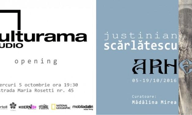 """Deschidere Kulturama Studio cu expoziția """"A.R.H."""" a lui Justinian Scărlătescu"""