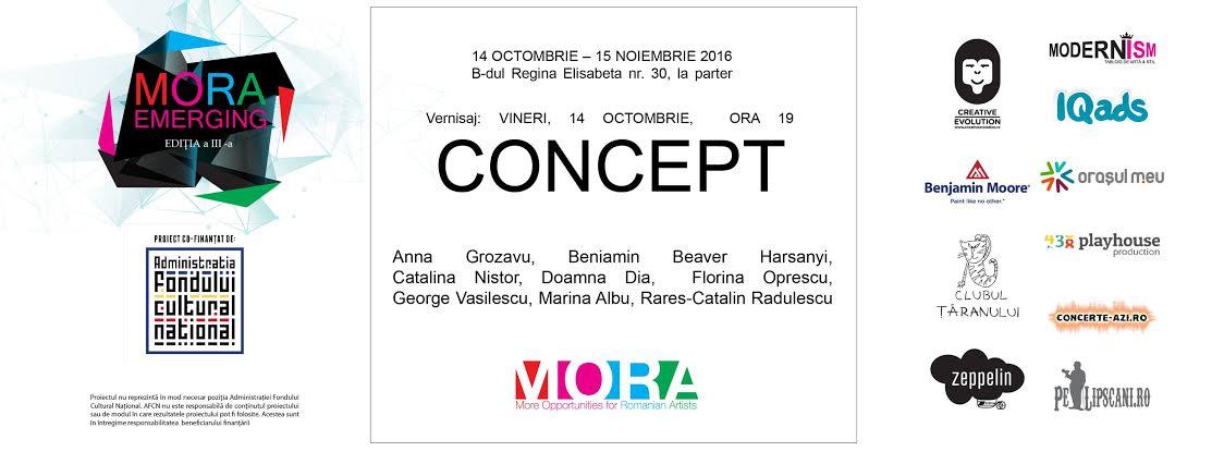 """Expoziția """"Concept"""" @ Centrul de Arta MORA, București"""
