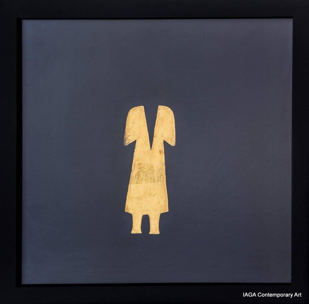 """Gino De Dominicis (1947-1998), """"Untitled"""" (Fără titlu), tehnică mixtă pe lemn, 1986. Credit photo Galeria IAGA Contemporary Art"""