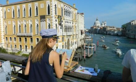 Venețieni, căței, porumbei