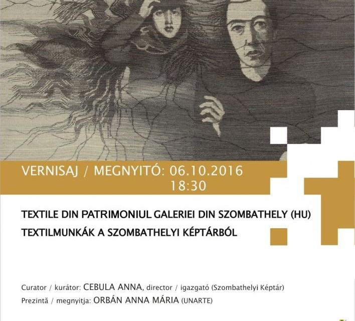 Expoziţie de textile din Colecţia Galeriei din Szombathely @ Institutul Balassi – Institutul Maghiar din Bucureşti
