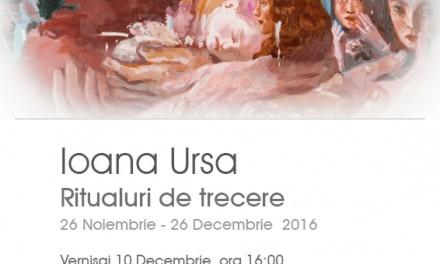 """Ioana Ursa, """"Ritualuri de trecere"""" @ galeria Cuhnia a Centrului Cultural Palatele Brâncoveneşti de la Porţile Bucureştiului, Mogoşoaia"""