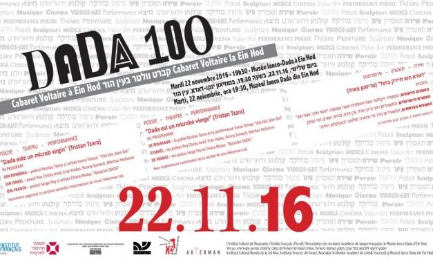 """""""Dada Mea: teatru, poezie și Dada"""", serie de evenimente dedicate Centenarului Dada,"""