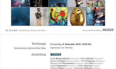 """Expoziţia """"APA"""" la galeria ICR Viena"""