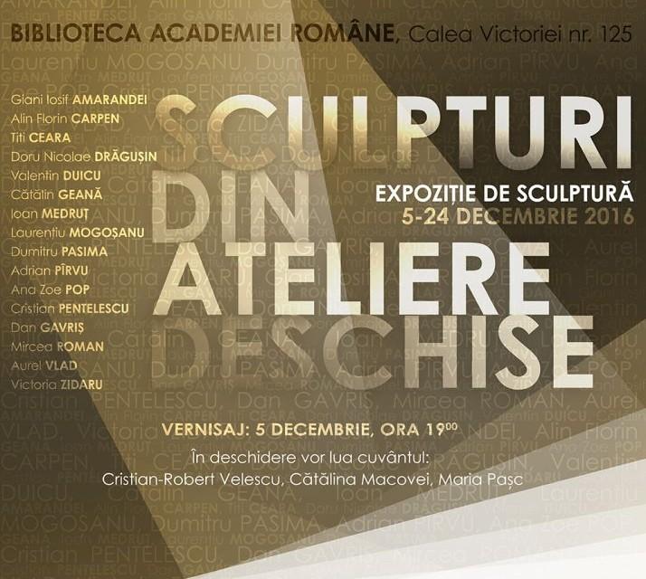 """Expoziția """"Sculpturi din Ateliere Deschise"""" @ Biblioteca Academiei Române"""