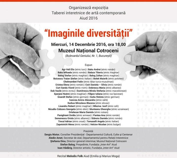"""Expoziţia """"Imaginile diversităţii"""" la Muzeul Naţional Cotroceni – expoziţie prilejuită de Ziua Minorităţilor Naţionale"""