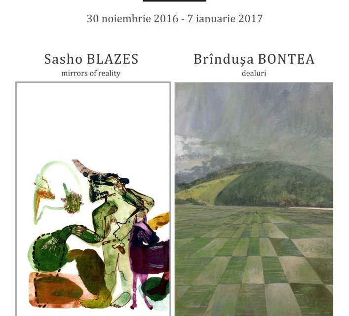 Sasho BLAZES / Mirros of Reality și Brândușa Bontea / Dealuri @ Art Yourself Gallery, București