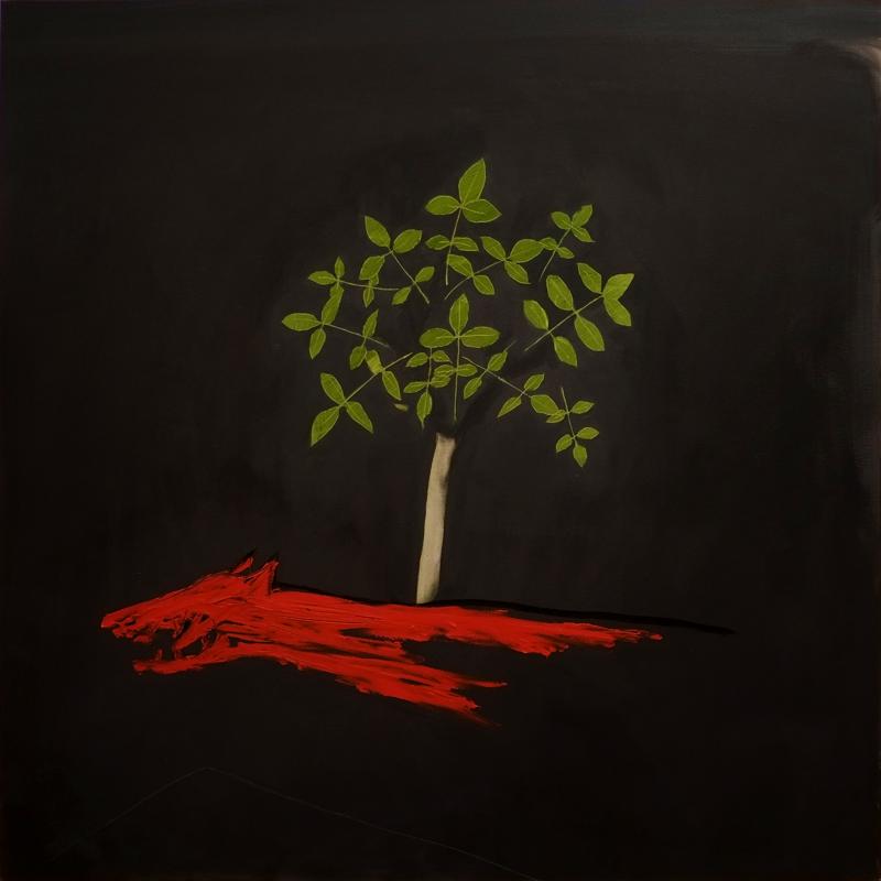 1The walnut tree 2016 100x100cm oil on canvas 2000€