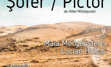 Teatrul Evreiesc de Stat prezintă PREMIERA spectacolului ŞOFER / PICTOR cu Maia Morgenstern și Lucian Iftime