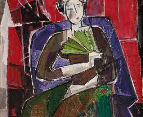 """Expoziţia """"Fata cu evantai verde sau Poveștile lucrurilor necuvântătoare"""" a artistei Alma Redlinger la Galeria ICR Viena"""