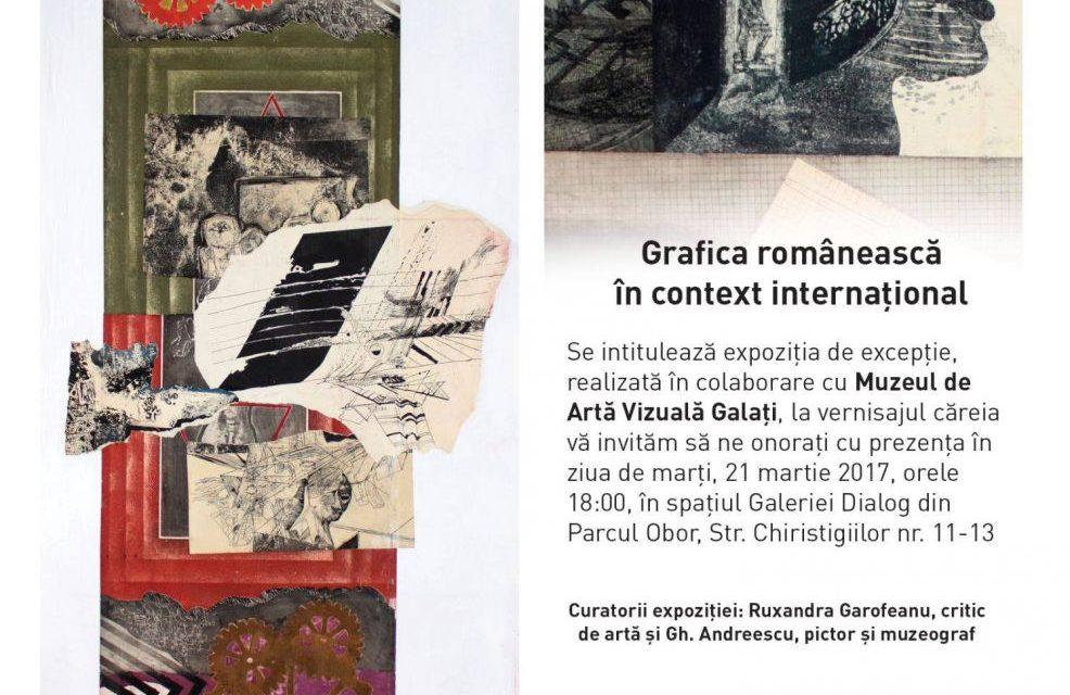 """""""Grafica românească în context internaţional, Recurs la memorie – Bienala de la Veneţia din 1972"""" @ Galeria Dialog, București"""