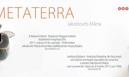 KeramikumHungarikum @ Galateea Contemporary Art & METATERRA @ Institutul Balassi din București