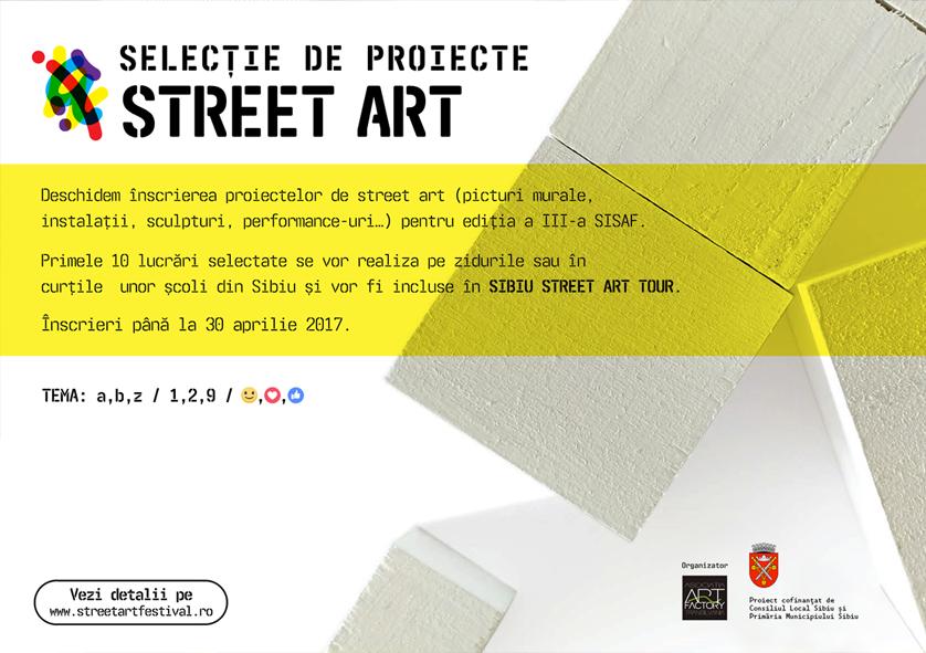 Selecție de proiecte street art pentru un Sibiu învăluit în artă