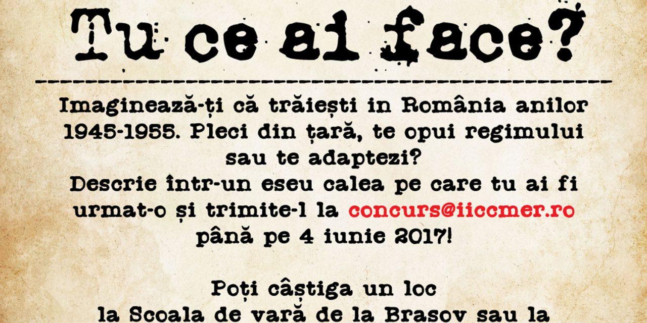 """IICCMER lansează concursul de creaţie pentru liceeni """"Comunizarea României. Tu ce ai face?"""""""