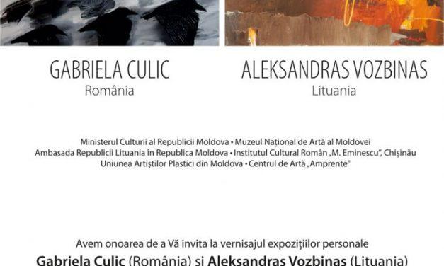 Gabriela Culic & Aleksandras Vozbinas @ Centrul Expoziţional Constantin Brâncuşi, Chişinău