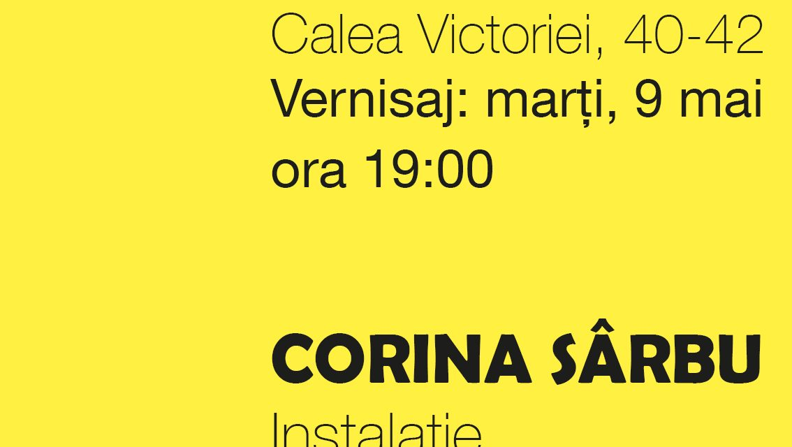 """Corina Sârbu """"Hope"""" @ Galeria Odeon, București"""