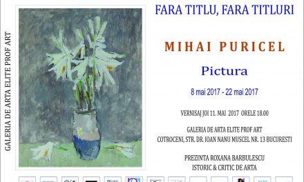 """Mihai Puricel """"Fără titlu, fără titluri"""" @ Galeria Elite Prof Art, București"""