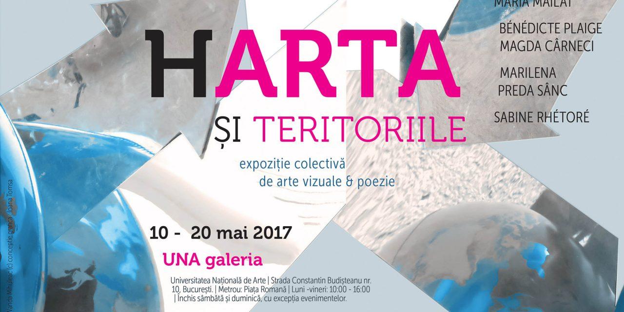 """""""Harta şi teritoriile"""" expoziție de arte vizuale & poezie @ UNA galeria"""