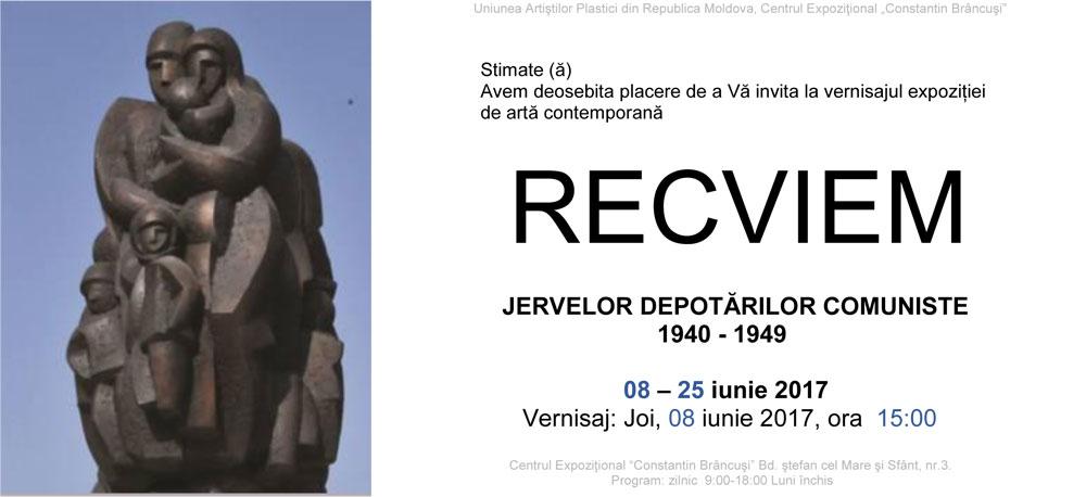 RECVIEM – JERTVELOR DEPOTĂRILOR COMUNISTE 1940-1949 @ Centrul Expoziţional Constantin Brâncuşi, Chişinău