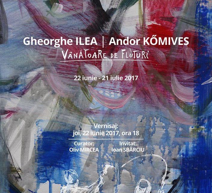 """""""Vânătoare de fluturi""""  Gheorghe Ilea – Andor Kőmives  @ Galeria Arcade 24 din Bistrița"""