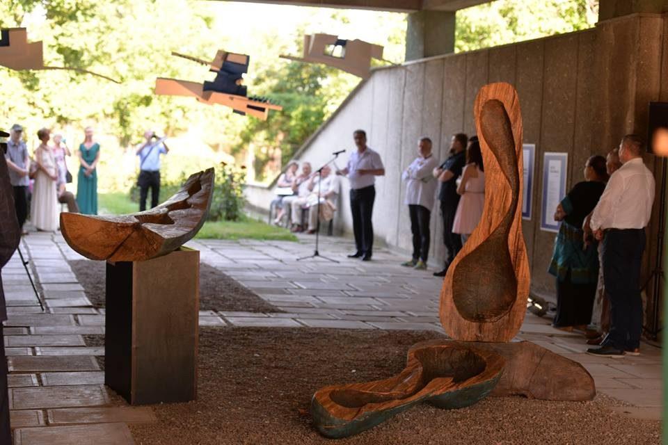 """Vernisajul rezidenței de sculptură """"Albastru"""" – Centrul de Cultură """"George Apostu"""", Bacău"""