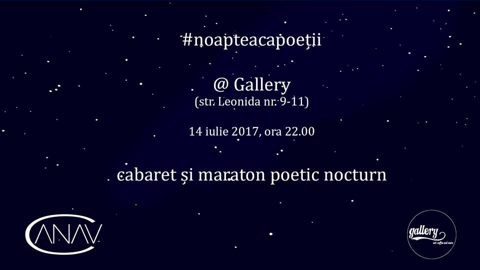 #NoapteacaPoeții la Gallery, București