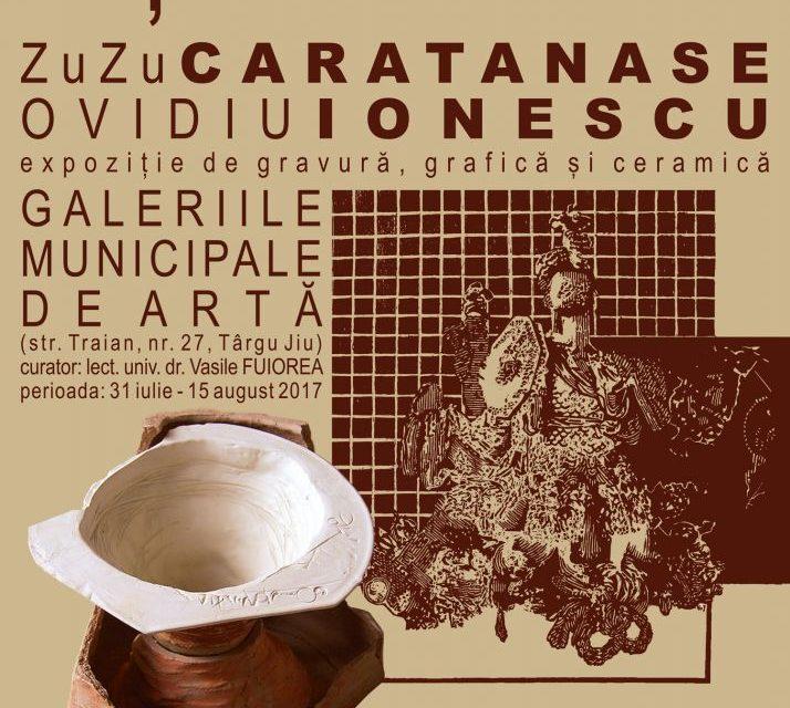 """""""Eșafodaj"""", expoziție de gravură, grafică și ceramică de ZuZu Caratanase și Ovidiu Ionescu @ Galeriile Municipale de Artă din Târgu Jiu"""