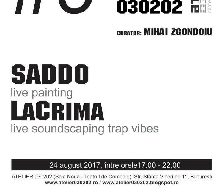 GOLDEN FRAME#9 SADDO / live painting @ ATELIER 030202, București